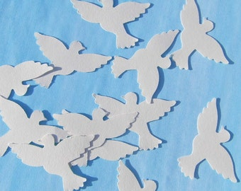 Stray parts of doves table decorations wedding cream cards place cards badge decoration of wedding fashion paper dove confetti doves