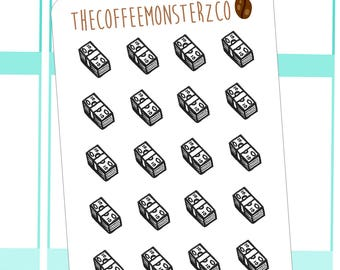 bill stack doodles - hand drawn planner stickers