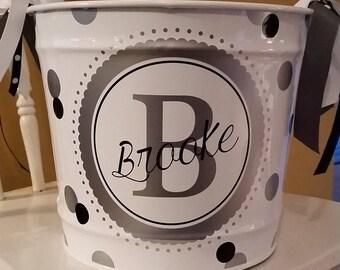 Personalized Bucket - 10 Quart / Gift Basket / Beverage Pail / Easter Bucket