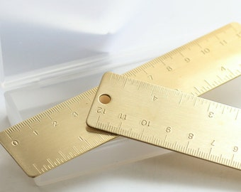 Gold Midori Ruler, Travelers Journal, Travel Journal, Planner Accessories, Metal Ruler