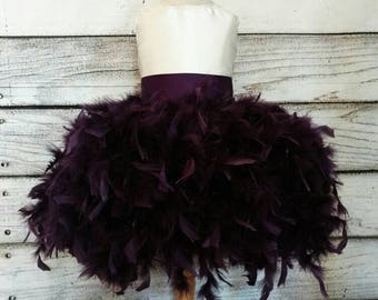 Couture plum flower girl dress,plum flower girl dress,ivory flower girl dress,custom flower girl dress,couture plum flower girl dress