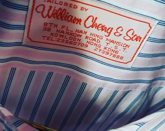 BESPOKE Wm. CHENG & SON Striped Shirt from Hong Kong