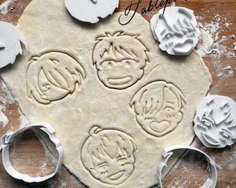 Yuri on ice  - cookie cutters