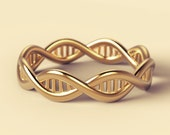geek wedding ring, DNA wedding ring, alternative wedding ring, science wedding ring, unique wedding ring