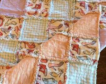 Shoes Baby Rag Quilt