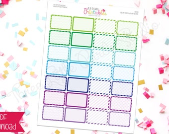 Cool Pattern PRINTABLE Half Box BIG Happy Planner Stickers (DS033)