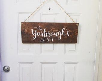 Hanging Name Sign