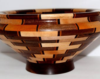 Walnut and Maple Segmented Bowl