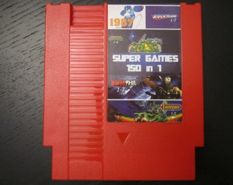 Super Games 150 in 1 Multi Cart for Nintendo NES Tons of Classic Retro Games