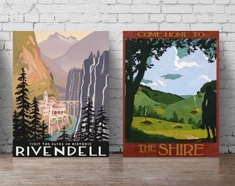 Visit the elves in historic Rivendell poster set A5-A0 large wall decal Rivendell wall sticker Lord of the Rings, come home to the Shire 261