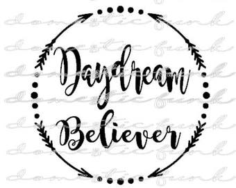 Daydream Believer SVG/PNG/Silhouette Studio File