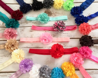 PICK 5 Baby Headbands/Newborn Headband/Baby Girl Headband/Infant Headband/Toddler Headband/Flower Headbands/Baby Headband/Hair Bows/Headband