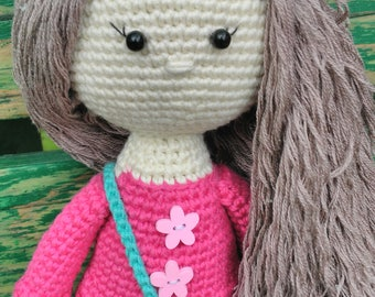 Children's knitted doll toy doll