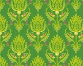 Primavera Damask in Green Cotton Fabric by Patty Young for Riley Blake