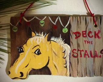 Christmas ornament,western ornament,horse,equine,handmade
