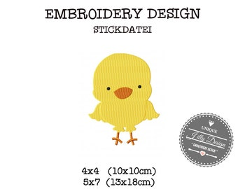 Embroidery Design  File Farm Chicken Hen Chick Roster  4x4 5x7