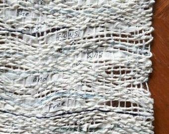 Custom Paper Word Weaving