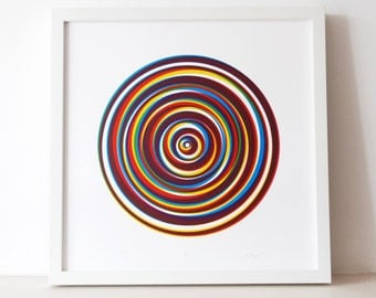 Pop - An original screen print, modern, abstract, circular,  limited edition silkscreen print