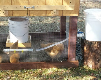 Five Gallon Water System For Chickens And Other Game Birds