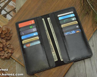 Leather Wallet, USA Wallet, Mens Wallet, BiFold Wallet,Mens leather wallet, USA Long Wallet, Leather card holder, long wallet