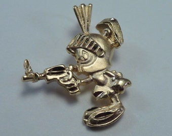 "14K Warner Brothers Yellow Gold ""Marvin the Martian"" Pendant"