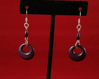 Dark purple shimmer earrings