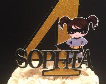 Batgirl Inspired Cake Topper