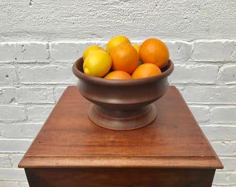 Vintage Wooden Fruit Bowl