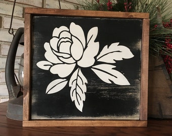 Rose Wood Sign - Home Decor