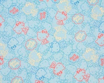 """Hello Kitty Character Fabric made in Korea 45cm by 160cm or 18"""" by 63"""" by the half yard"""