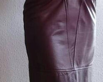 Incl Mutay vintage 70 he high-waisted leather skirt size 38 belt Supersexy