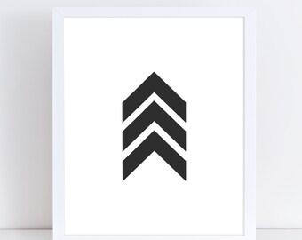 Chevron Arrow Print, Scandinavian Wall Decor, Modern Minimalist, Instant Download, Large Wall Art, Bedroom Wall Decor, Digital Wall Art.