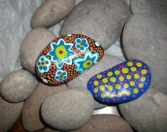 Handpainted Rocks Duo