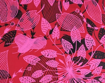 Fabric Length 0.8 m Silk - Waterlily Design by Eva Nganjmirra