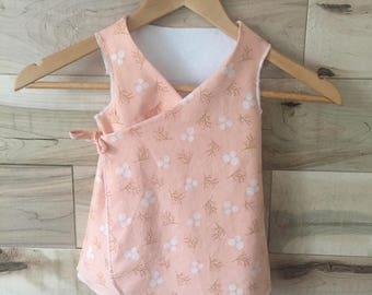 Baby girl dress - vintage - pink coral