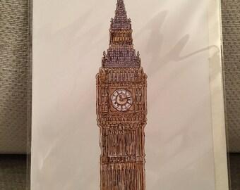 A6 Big Ben Postcard