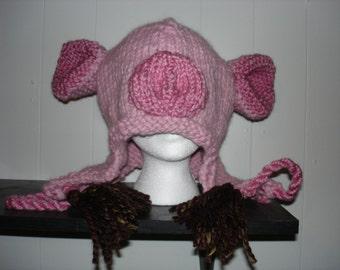 Pink Piggy Wiggy Hat
