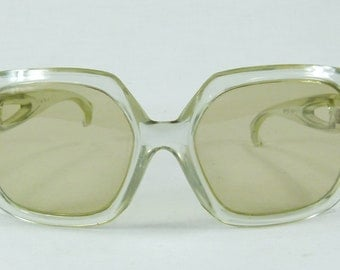 Vintage Retro Polish Opta JALTA Katowice 1960s Large  Oversized Sunglasses Glasses frame