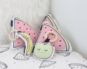 Watermelon Cushion, Girls Pillow, Scandinavian Decor, Kids Pillow, Modern Pillow Set, Home Decor, Nursery Decor