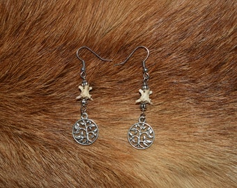 Tree of life vertebrae earrings