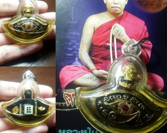 Thai amulet Occult sorcery Holy Magic Third Eye Tippaya Mahavech in Hypnotizing oil by Lp. Nean Keaw created gambling luck good fortune