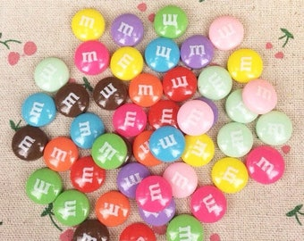 coloured cabochon resin 10 m & m