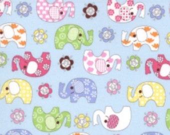 Cotton poplin prints baby elephant designs 100% cotton.