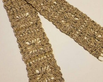 CROCHET SPECKLED SCARF