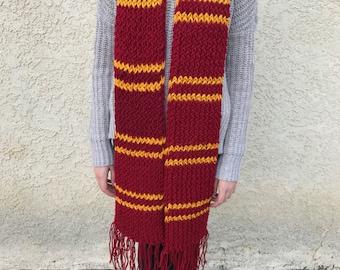 Gryffindor Scarf Knitted - Handmade