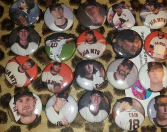 20- 1 inch  San Francisco Giants Buttons