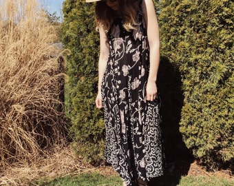 90's Grunge Floral Maxi