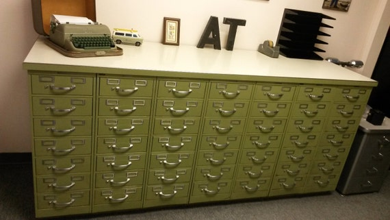 Items Similar To Vintage Industrial Steelcase Index Card Filing Cabinet  Set, 49 Drawer Set, Rare Find, All Metal Index Card Filing Cabinets, ...