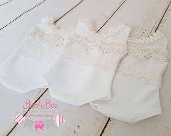 vintage style newborn lace romper / outfit photo prop RTS