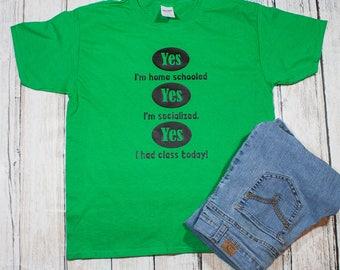 funny kids homeschool shirt / socialized kids shirt / kids school shirt / kids homeschool tee / funny kids shirt / homeschool tshirt